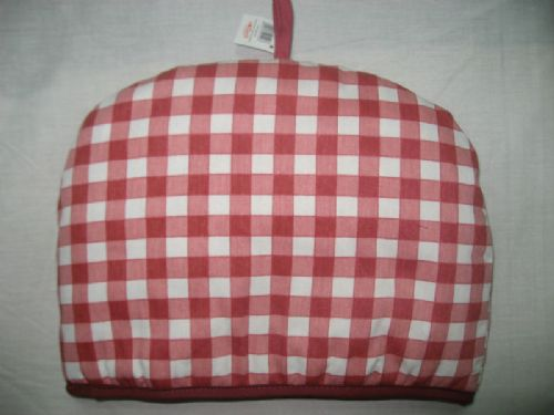 PINK COLOUR QUILTED CHECK 100% COTTON TEA COSY